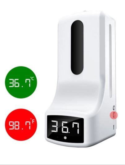 Smart Automatic Touchless Hand Sanitizer Dispenser With Built In Infrared Thermometer