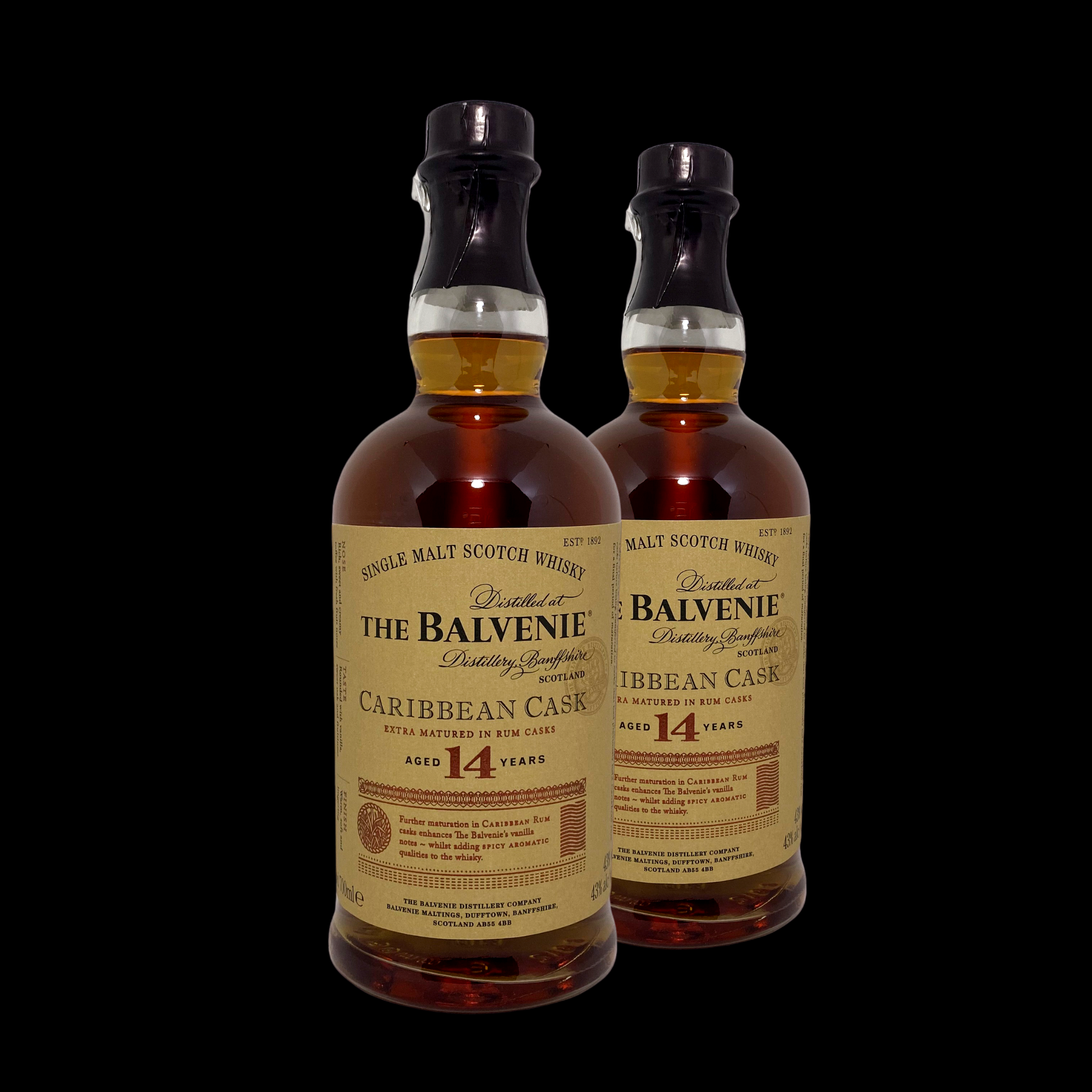 Balvenie Whisky; 14 Years (Twin Bottle Deal)