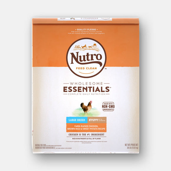 Nutro Large Breed Puppy Farm-Raised Chicken, Brown Rice & Sweet Potato Recipe