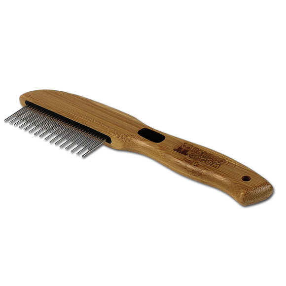 Bamboo Groom Rotating Pin Comb with 31 Rounded Pins