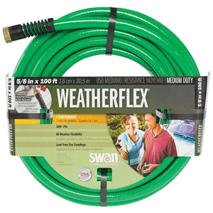 SWAN WEATHERFLEX MEDIUM DUTY GARDEN HOSE