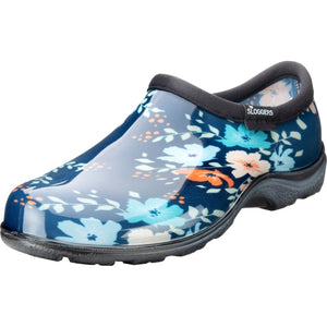 Sloggers Womens Waterproof Garden Shoe- Blue Floral Fun