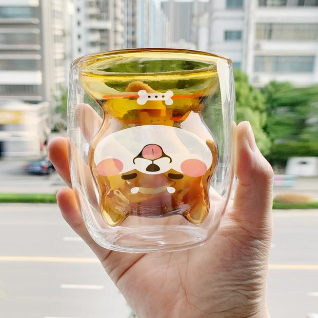 Double-Glass Doggy Cup