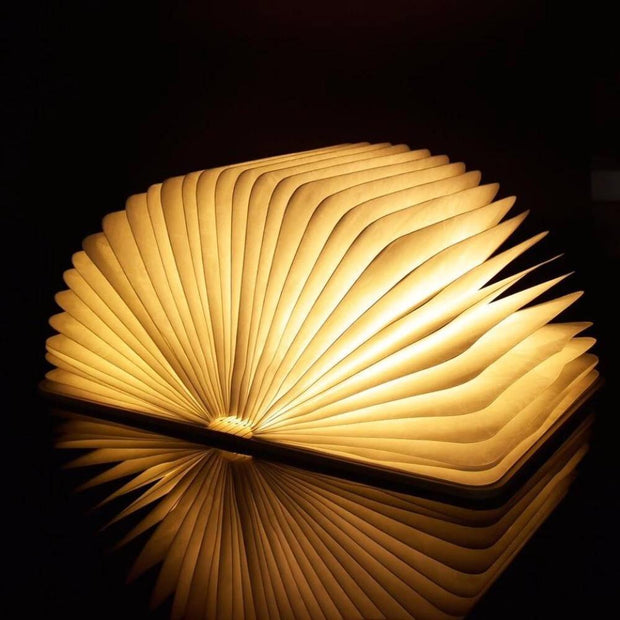 Foldable LED Wooden Book
