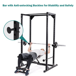 Adjustable Dumbbell Rack Cage Chin up Squat Stand Strength Traning Gym