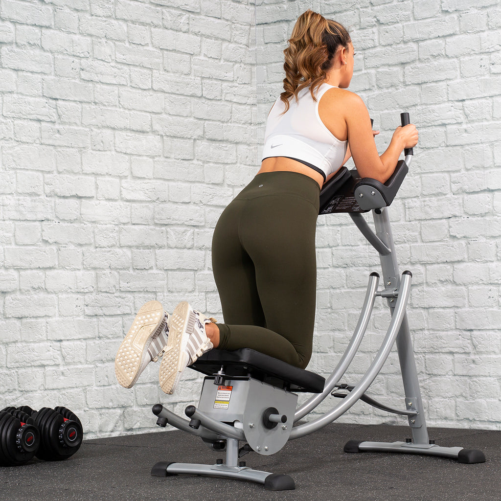 XtremepowerUS Roller Coaster Abdominal Machine Waist Fitness Equipment Abdomen Cushion Exercise Machine