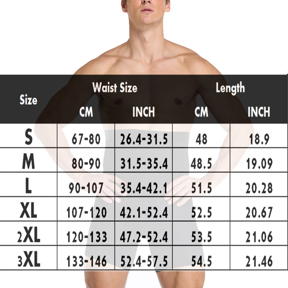 Men's Tummy Control Shapewear Shorts High Waist Slimming Anti-Curling Underwear Body Shaper Seamless Boxer Brief