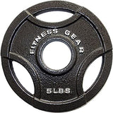 Fitness Gear 5lbs Olympic Grip Weight Plate, Single