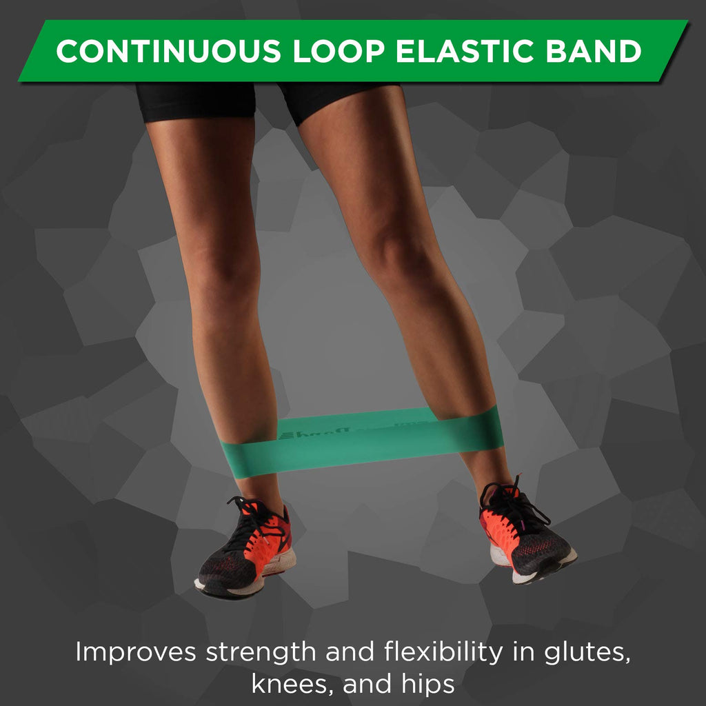 TheraBand Professional Latex Resistance Band Loop, 8 Inch, Green, Heavy, Intermediate Level 1