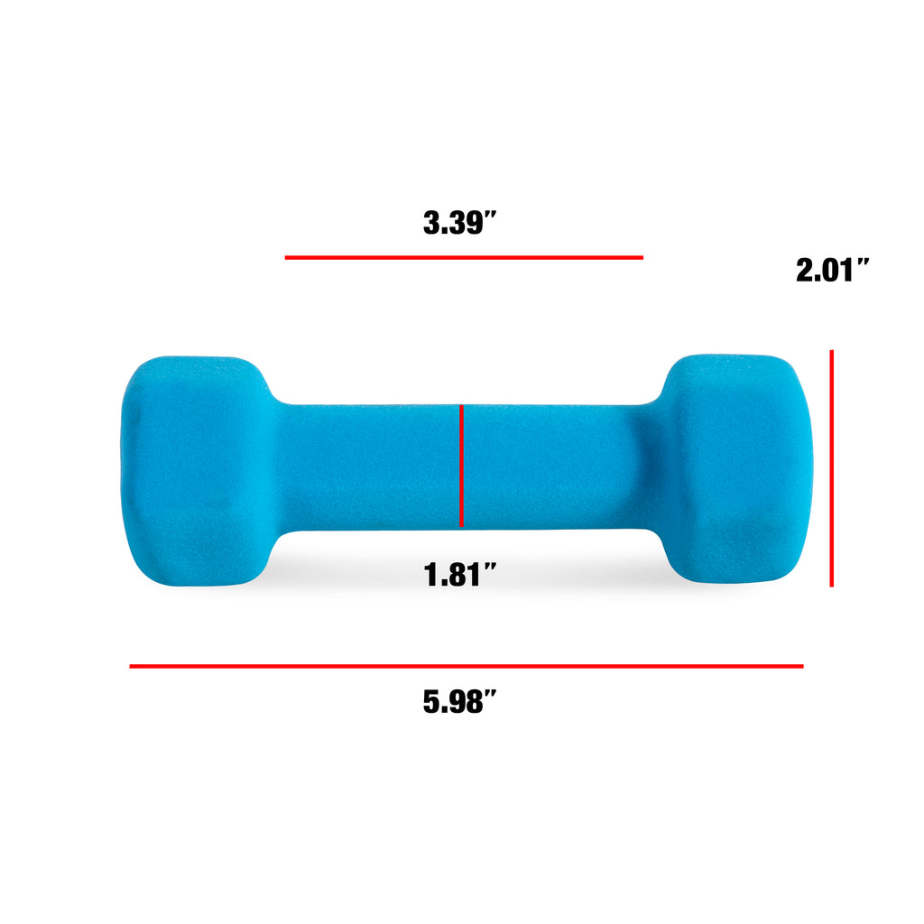CAP Barbell Neoprene Dumbbell, Single 2-10 lbs