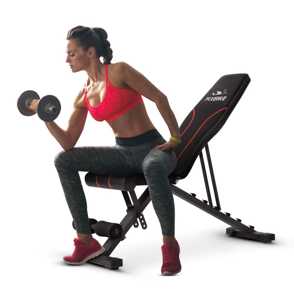 FLYBIRD Adjustable Weight Bench Folding Incline/Decline Home Gym Workout