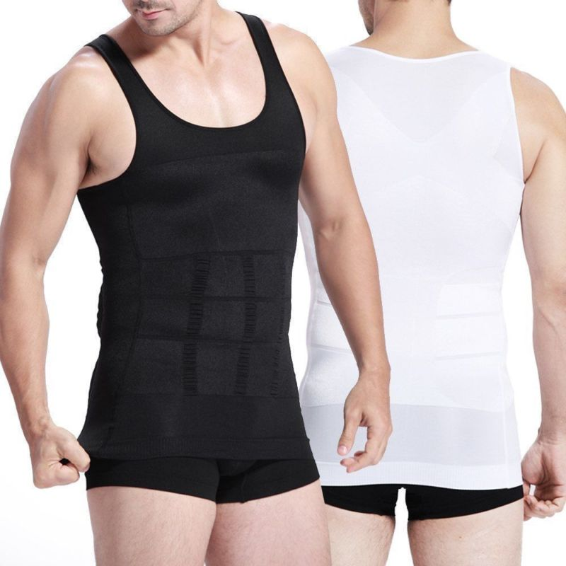 Men's Slim Body Shape-wear Tank Top Underwear Shirt Tummy Control Belly Slim Tops