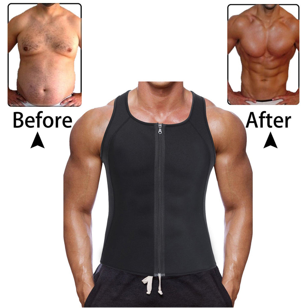 Men Slimming Neoprene Vest Shirt Body Shaper Waist Trainer Shape-wear