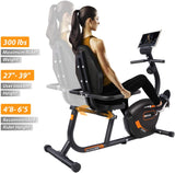 JEEKEE Recumbent Exercise Bike for Adults Seniors - Indoor Magnetic Cycling Bike for Home Workout