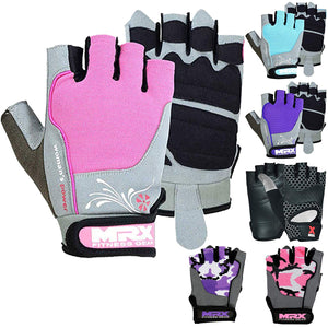 MRX Women's Weight Lifting Gloves Gym Training Bodybuilding Fitness Workout Glove Pink S
