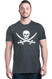 Shop4Ever Men's Pirate Flag Skull Scimitars Graphic T-shirt