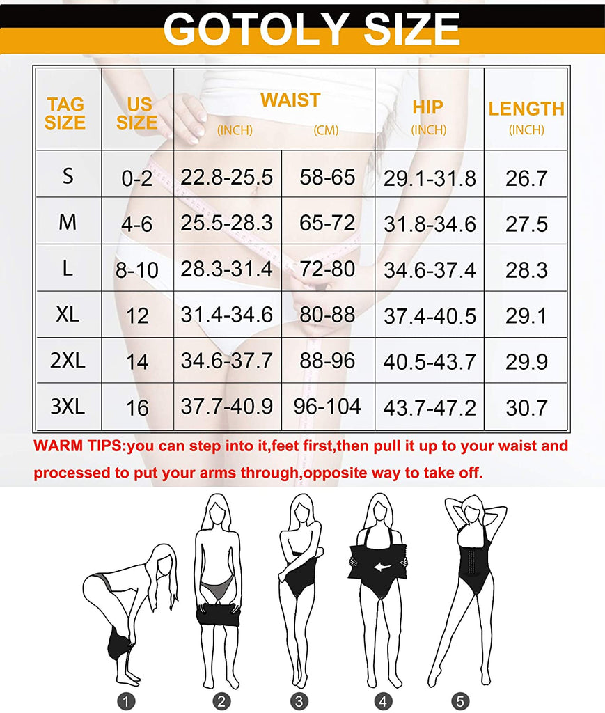Gotoly Women Waist Trainer Bodysuit Tummy Control Corset Full Body Shaper Cincher Tank Top with Adjustable Straps