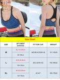 "GustaveDesign Women Yoga bra Seamless Mesh Removable Pads Adjustable strap Sports Bra High Impact Workout Gym Activewear ""M,Blue"""