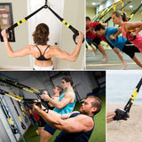 Bodyweight Resistance Straps Training Kit,Suspension Fitness Strap Trainer,Fitness Resistance Trainer,Resistance Band for Full Body Strength,ALL-IN-ONE Suspension Fitness Training Home Gym