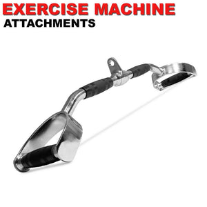 Home Gym Cable Attachment 28 inch LAT Bar Handle Machine Exercise Chrome Press Down Strength Training Home Gym Attachments