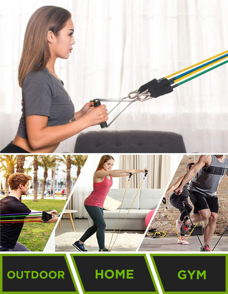 Resistance Bands Set Of 11 Exercise Bands For A Home Workout By Reneg8