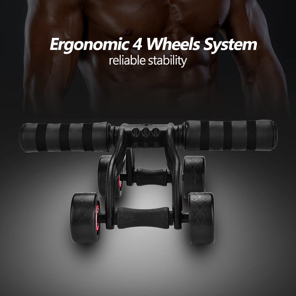 VGEBY Ab Wheel Fitness Equipment - 4 Wheels Innovative Ergonomic Abdominal Roller Carving System - Home Gym Boxing Exercise Workout Equipment