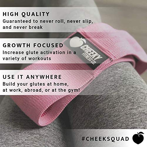 Cheeky Fitness Booty Bands - Heavy Resistance Glute Circle & Hip Band Trainer