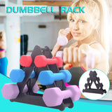 Prolriy Dumbbell Rack Stand 3 Tier Dumbbells Hand Weights Sets Holds 30 Pounds