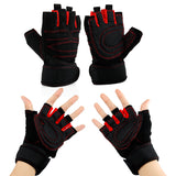 Workout Gym Half Finger Gloves Weight Lifting Wrist Wrap Sports Exercise Training Fitness