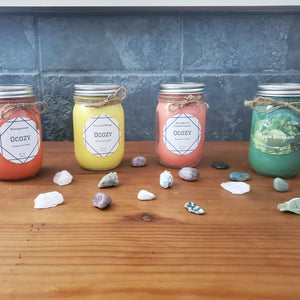 Ocozy Pick Your Color & Fragrance 16oz Mason Jar Non Treasure 100% Natural Soy Candle - Ocozy Candles