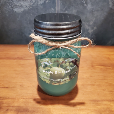 Apple Blossom 16oz Mason Jar Treasure Candle - Ocozy Candles