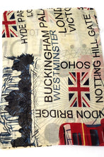 Load image into Gallery viewer, British Flag Printed Scarf - beige