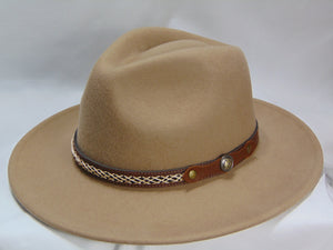 Heather's 'Anytime, Anywhere' Wide Hat - chestnut