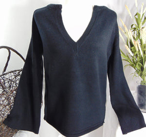 Gabrielle's 'Bell-Sleeve' V-Neck Sweater