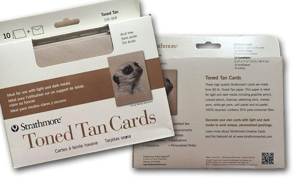 Tan Artist Cards and Envelopes