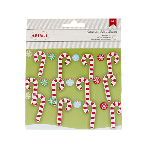 DIY Holiday Candy Cane Banner Kit