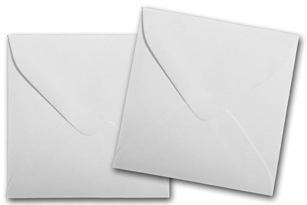 White 3 inch square envelopes