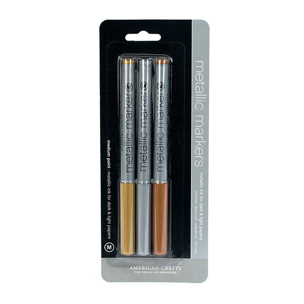 AC Metallic Markers - 3 pack - Copper, Gold, Silver Medium Point