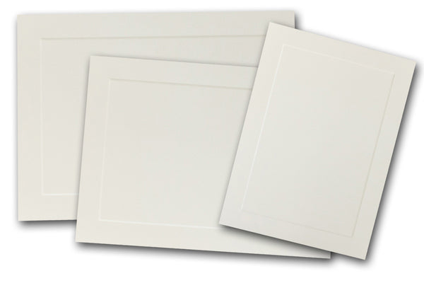 Cougar Opaque Embossed Panel A-2 FLAT Cards - 50 pk