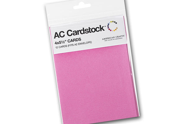 Pink A2 folded discount card stock