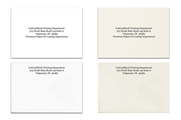 RSVP Discount A1 4 Bar Envelope Printing - 50 Envelopes with Addresses