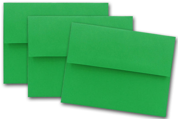 Green A7 Announcement Envelopes