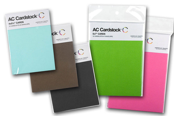 AC Folded Discount Card Stock - Blank Folded Cards - 12 pk