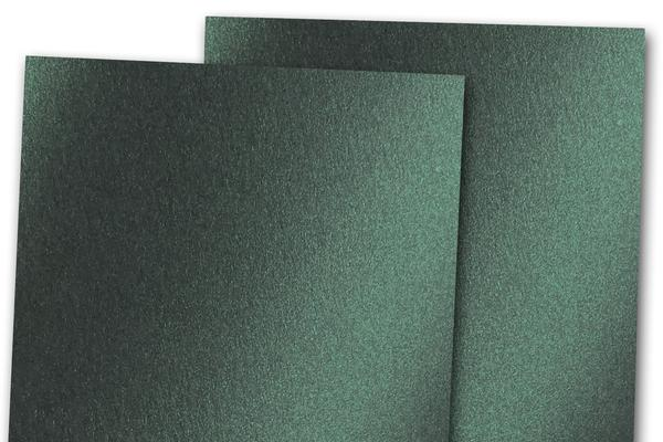 Blank Metallic A1 RSVP Cards - Green