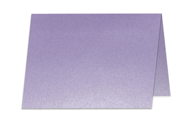 Blank Metallic A6 Folded Discount Card Stock  - Lilac Purple