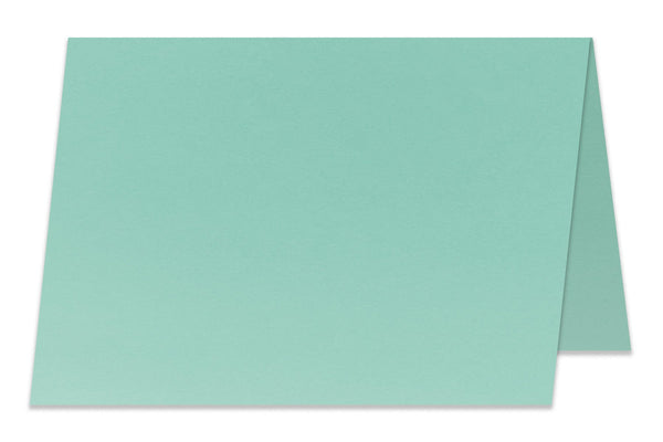Blank A6 Folded Aqua Discount Card Stock