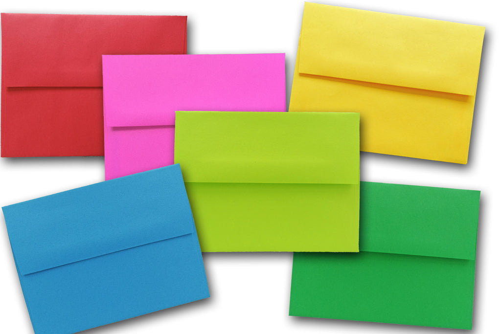 25 Envelopes Multi Assorted or one color for Invitations Announcements A2 A6 A7