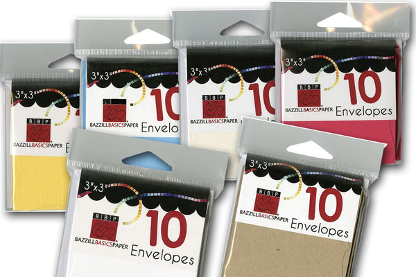 3x3 gift cards and envelopes