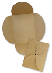 BROWN BAG PAPER A7 Petal Card INVITATIONS  KRAFT 10 pack - Buy Cardstock