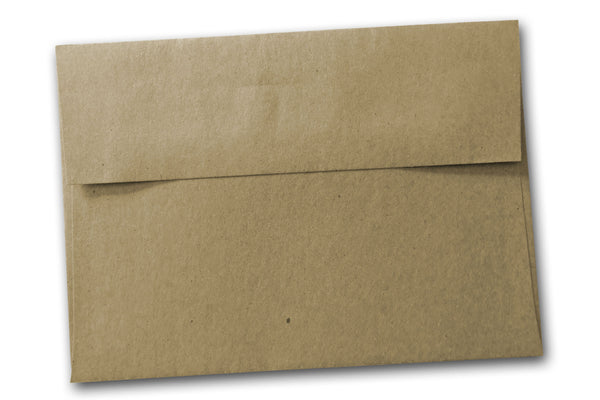 Brown bag invitation envelopes